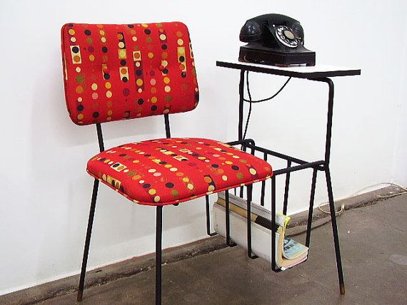 MCM Vintage Telephone Gossip Chair   mid century modern telephone ...