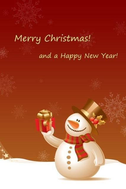 Buon natale e buon anno con il pupazzo di neve. Feliz navidad y próspero año nuevo. Merry Christmas and Happy New Year,