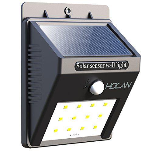 Holan 12 Led Motion Sensor Solar Waterproof Wall Light Ie Https Www Amazon Com Dp B01gc8g4te Solar Motion Lights Motion Sensor Lights Outdoor Solar Lights