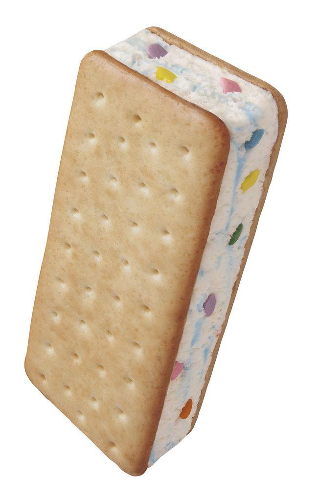 Blue Bunny Birthday Cake Ice-Cream Sandwich
