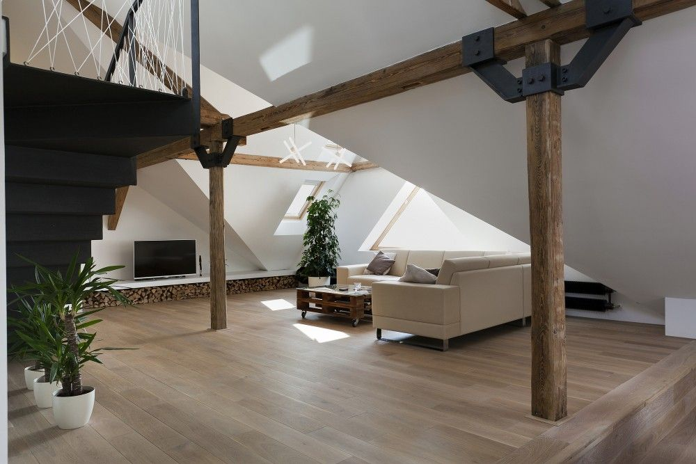 Gallery Of Attic Loft Reconstruction B Architecture 11 Attic Loft Attic Renovation Attic Bedroom Small