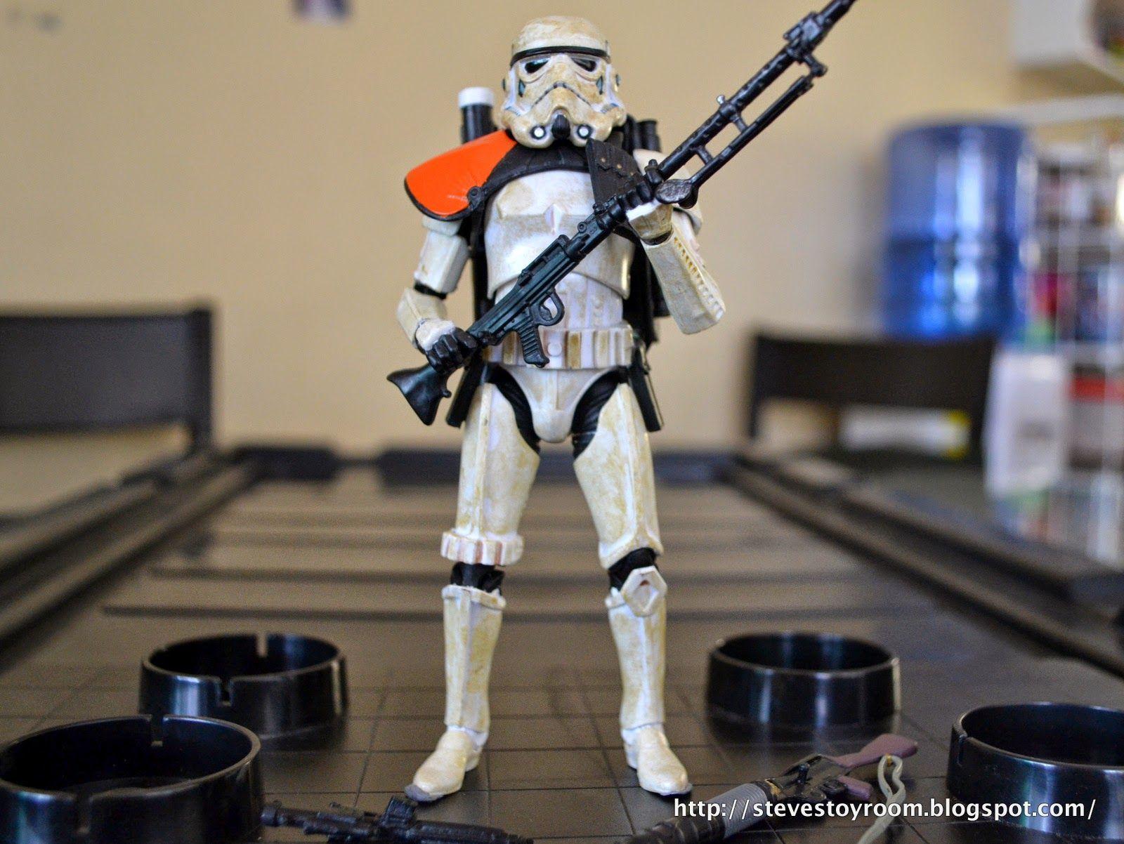 """Steve's Toy Room: Sandtrooper 6"""" Star Wars Black Series from Hasbro"""