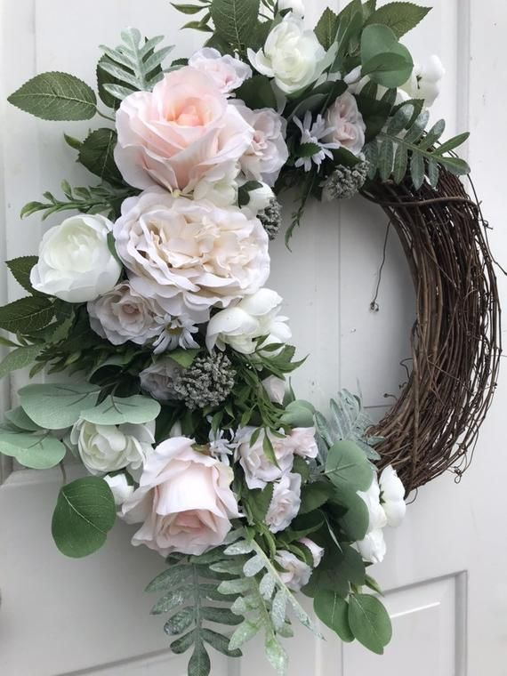 Photo of Spring Wreaths For Front Door, Farmhouse Spring Wreath, Neutral Spring Wreath, Spring Decor, Front D