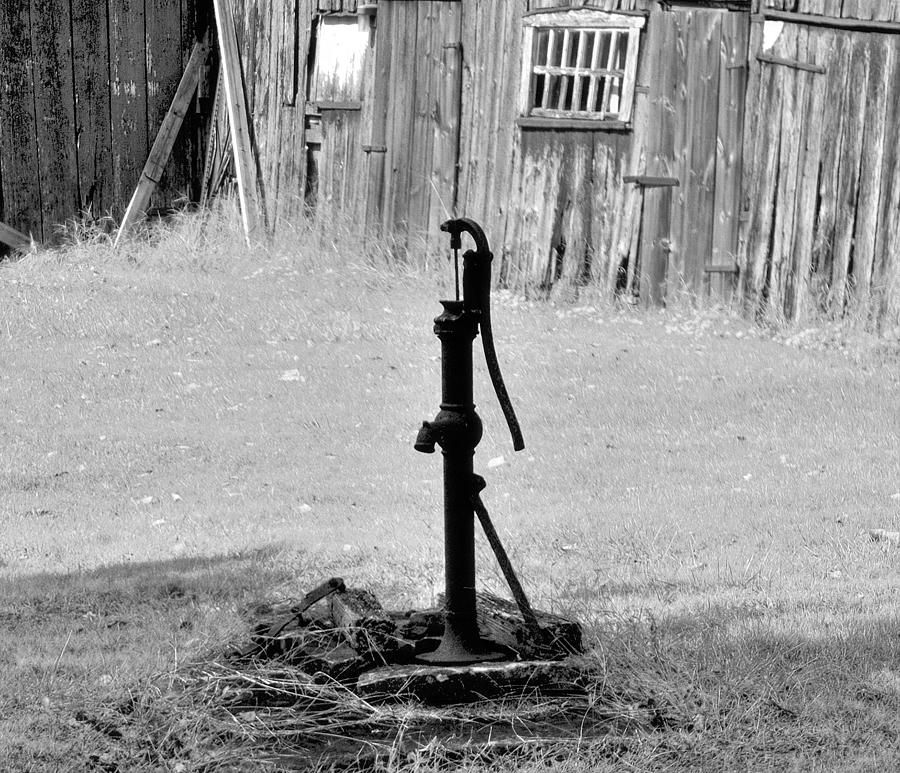 Old Water Well Hand Pump Photograph - Old
