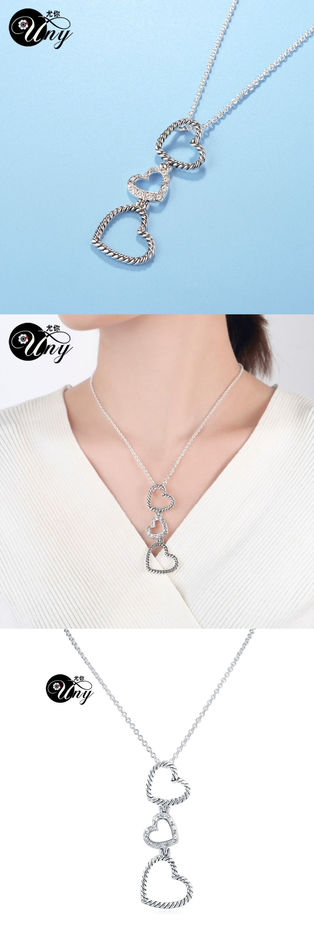 UNY Luxury Cable wire Necklaces design linked Chain Necklace Women ...