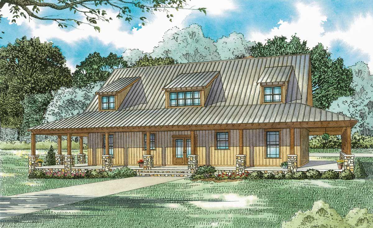Rustic Farmhouse With Wraparound Porch Farmhouse plans