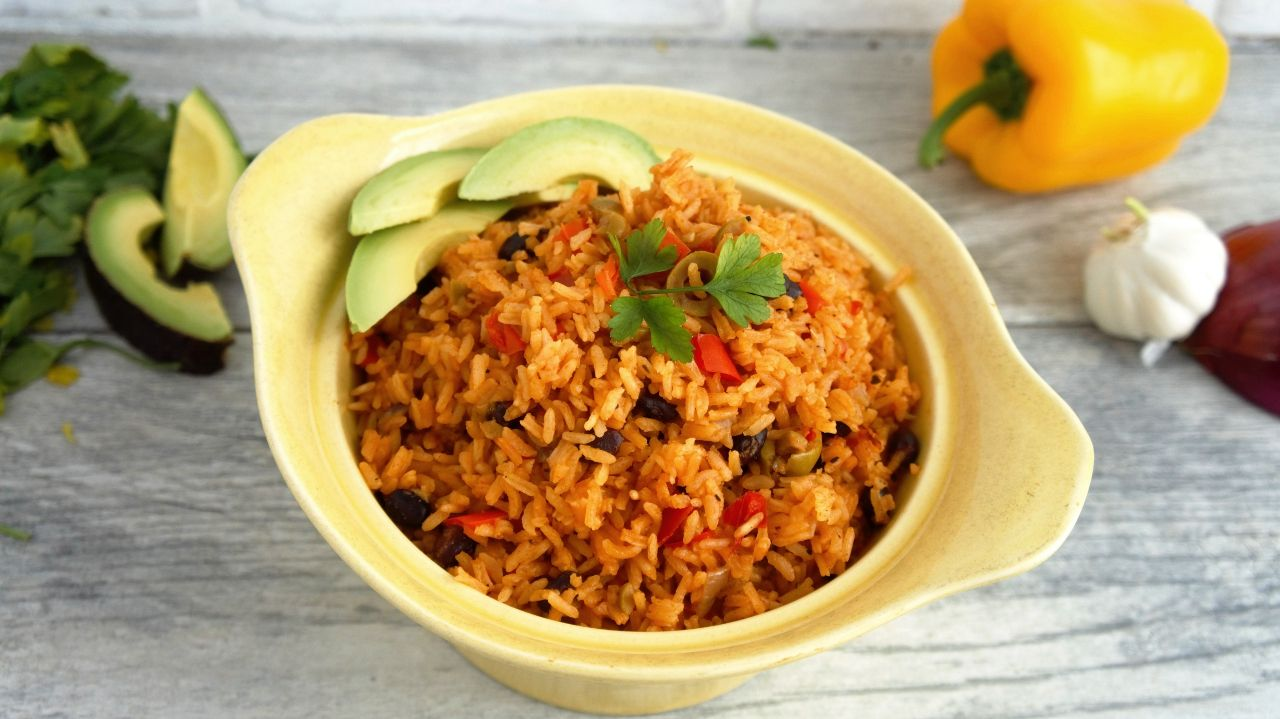Being Puerto Rican I grew up eating Spanish rice everyday