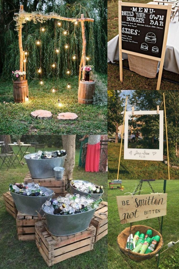 30 Budget Friendly Backyard Wedding Ideas Wedding Backyard Reception Backyard Wedding Outdoor Wedding House small backyard wedding reception