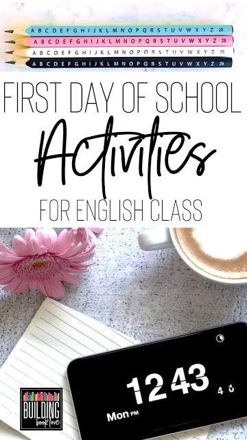 First Day of School Activities for High School and Middle School English - Building Book Love