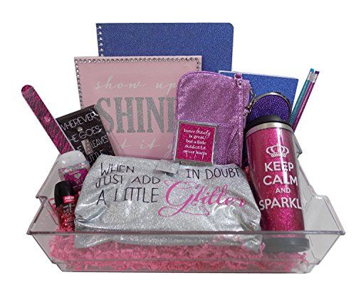 Born to sparkle glitter girls gift basket perfect for born to sparkle glitter girls gift basket perfect for birthdays get well negle Image collections