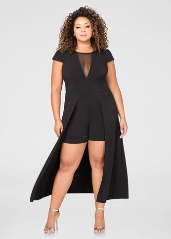 Extended Back Romper | plus size fashion | Pinterest | Rompers ...
