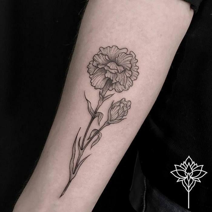 20 Wonderful Carnation Tattoo Designs Page 2 Of 2 Tattoobloq Carnation Tattoo Tattoos Carnation Flower Tattoo