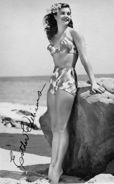 6bbb2da097a51 Competitive swimmer Esther Williams was an early bikini fan, she later  produced her own swimwear line, 1950s