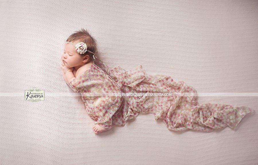 Newborn photography baby girl
