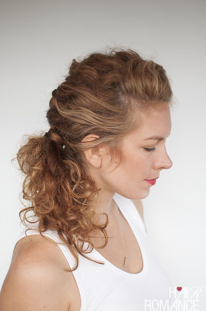 Easy Everyday Curly Hairstyle Tutorials The Curly Side Braid Hair Romance Curly Side Braid Wavy Hairstyles Tutorial