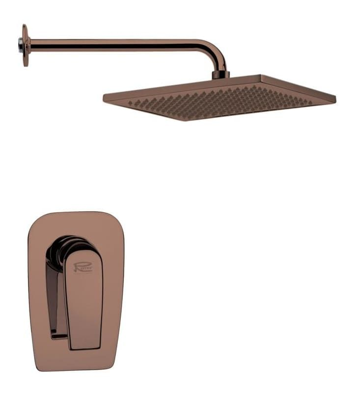 Nameeks SS1114 Remer 2.5 GPM Single Function Rain Shower Head with Valve Trim Ro