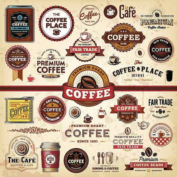 Best Coffee Labels Illustrations, RoyaltyFree Vector