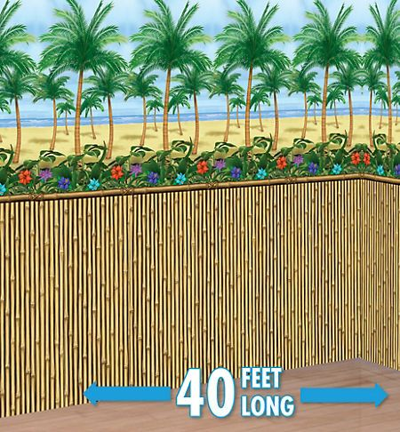 Bamboo Room Roll 4ft X 40ft Party City With Images Beach