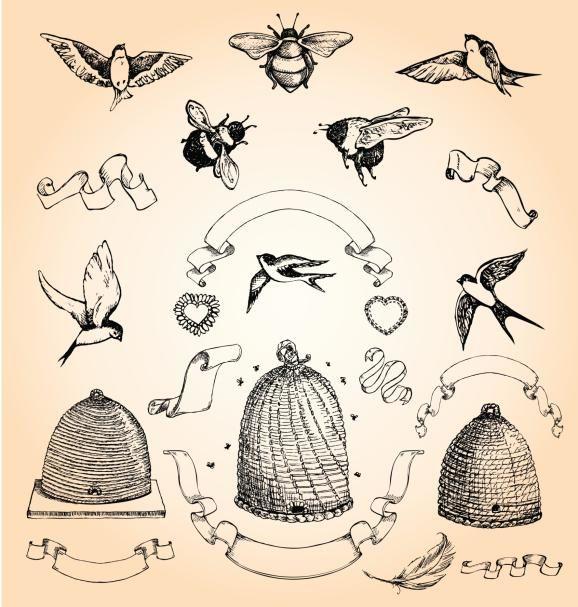 Simbología de los tatuajes de abejas y avispas | dibujos | Pinterest ...