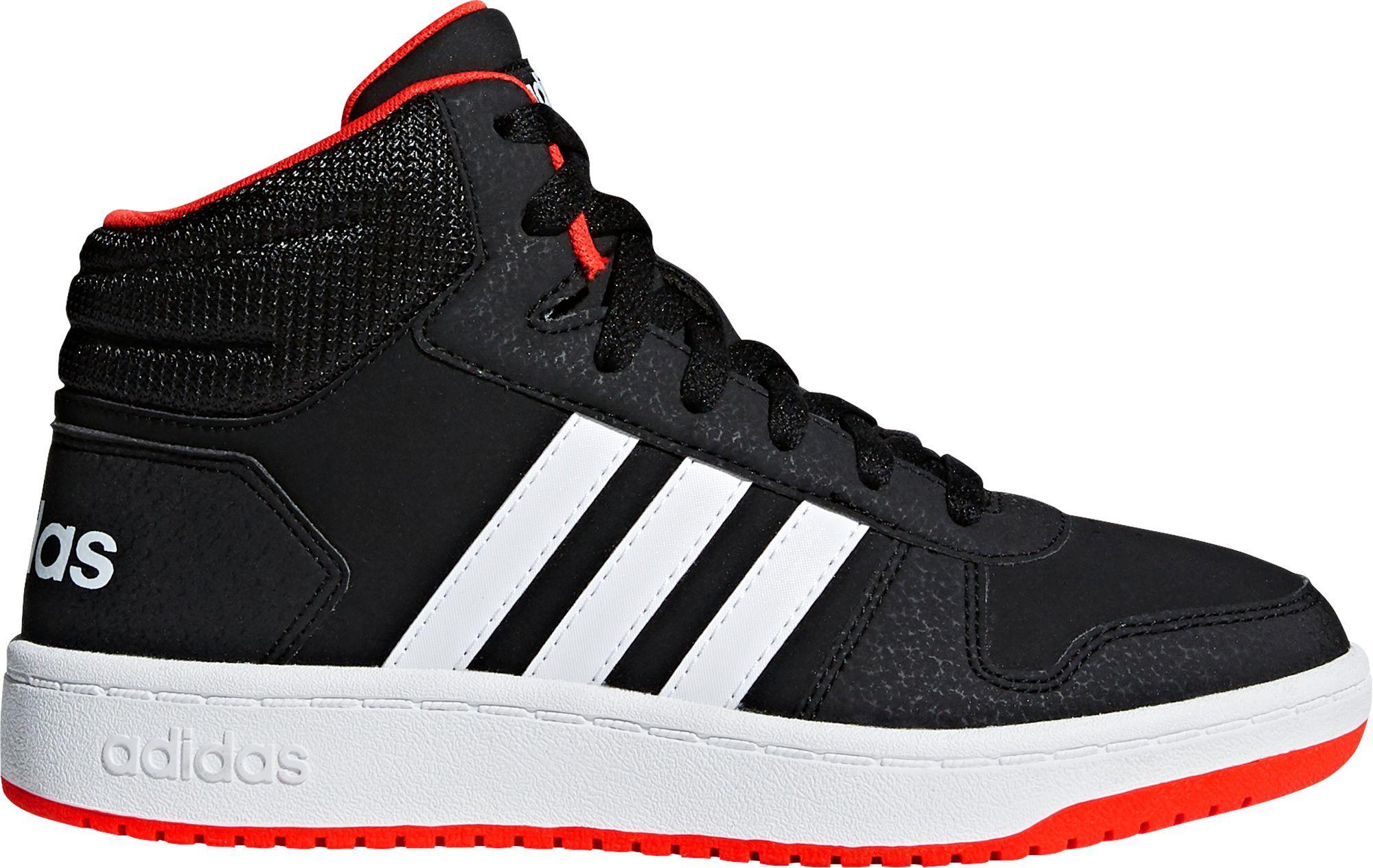 adidas Kids' Preschool Hoops 2.0 Mid Basketball Shoes, Size