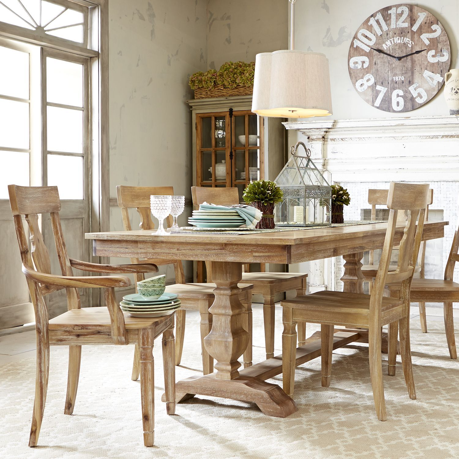 Bradding Natural Stonewash 84 Dining Table Dining Room
