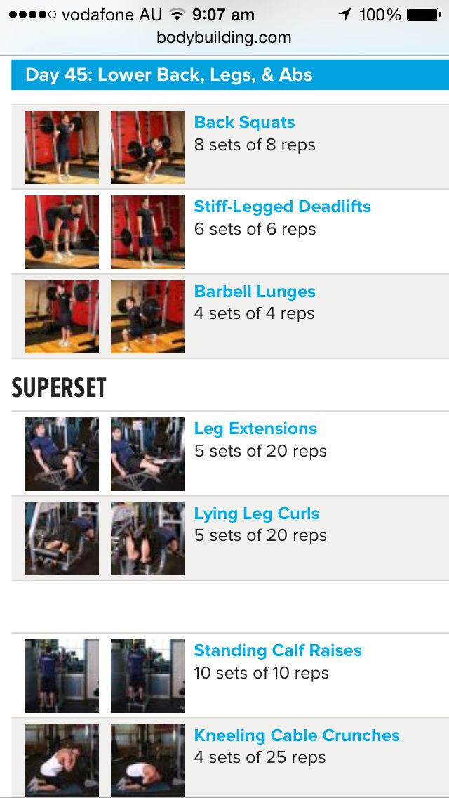 Arnold Schwarzenegger Blueprint Workout, Day 3