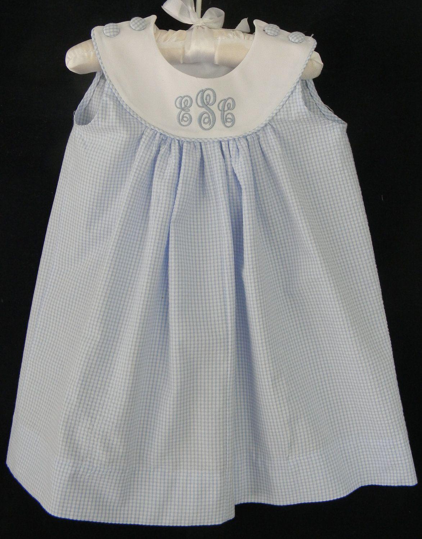 259c65206 Easter Toddler Girl Seersucker Gingham Monogram 3- 18 month.  48.00 ...