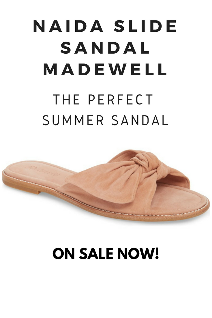 d1bf60a698024 Gorgeous and absolutely perfect for Summer! Naida Slide Sandal by MADEWELL.  ON SALE NOW