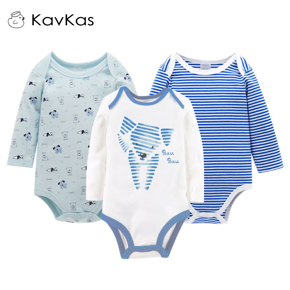 8b5efd10f Kavkas Baby Boy Romper Long Sleeve Jumpsuits 3pcs Set Winter Newborn ...