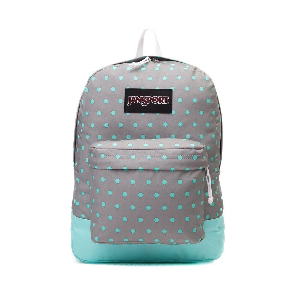JanSport Superbreak Backpack in Gray/Aqua $35 | para la uní ...
