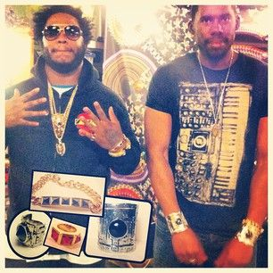 Thundercat and Flying Lotus (Heavy Metal Ring, Heavy Metal Cuff, Crystal Spike ring, Crystal Spike Bracelet) #hancholo #jewelry #accessories #flyinglotus #heavymetalcuff #crystalspike