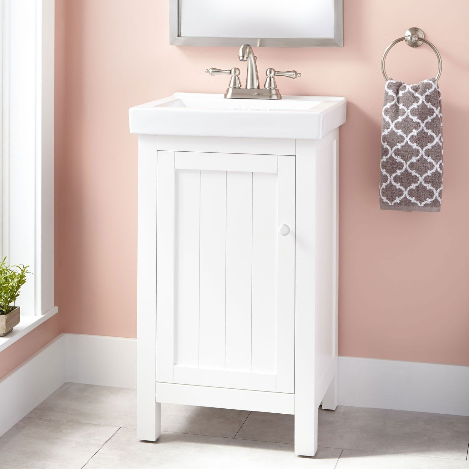 20 Harris Vanity Cabinet White With Images 20 Inch Bathroom