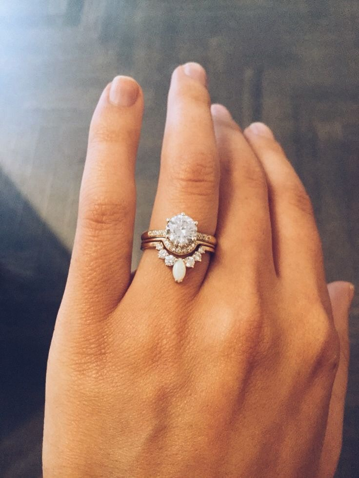 nesting wedding rings are a new trend for those of us that want unique wedding rings - What Finger For Wedding Ring
