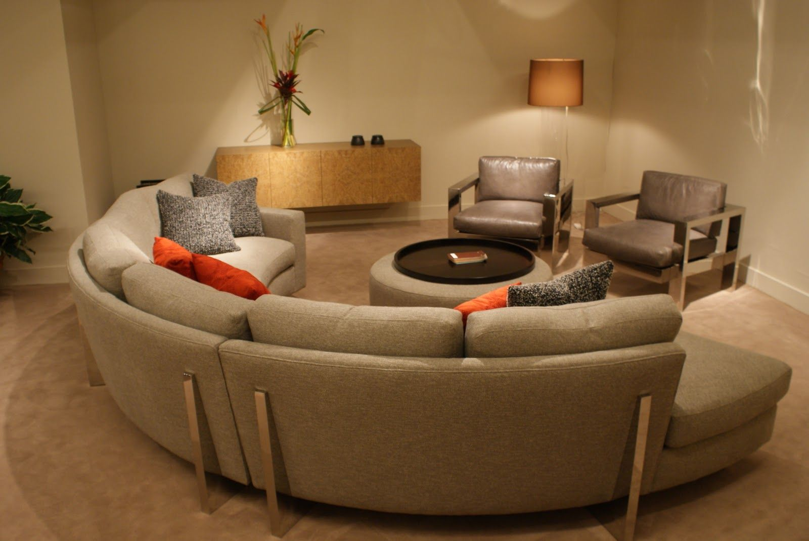 half circle sofas brown sectional sofa with chaise cool semi couch comfy furniture pinterest
