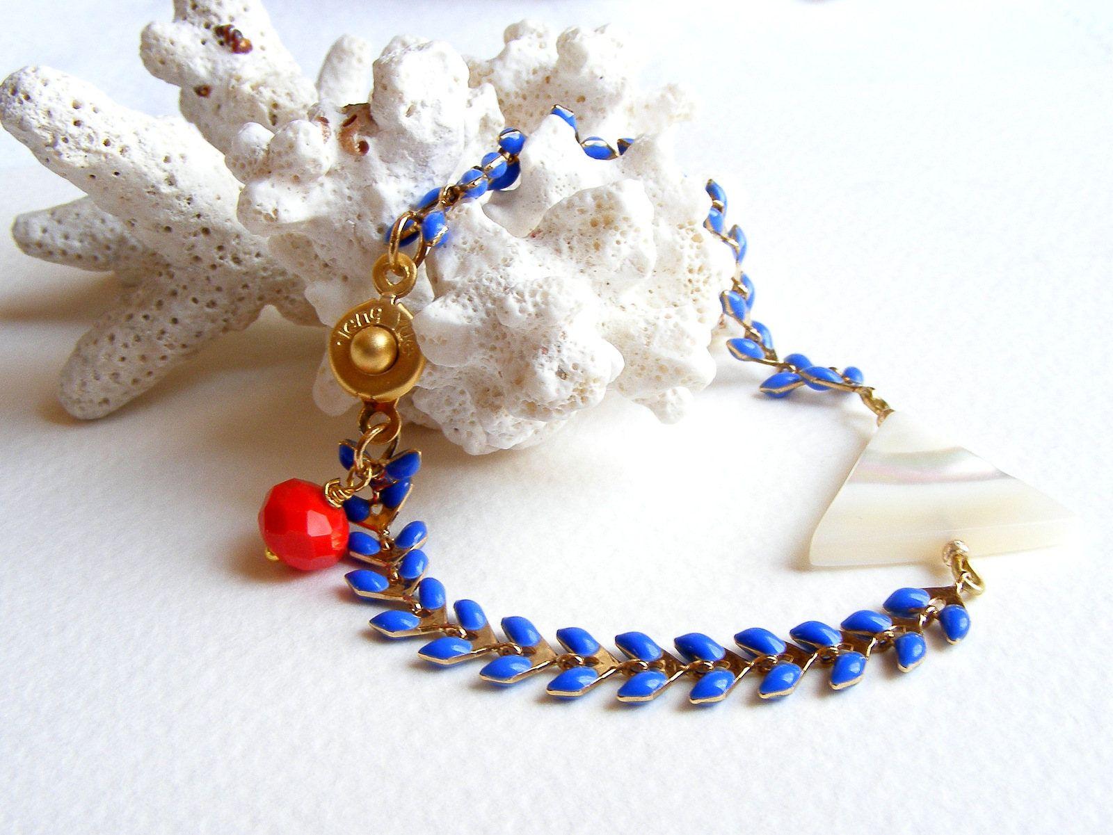 bijoux fantaisie bleu blanc rouge