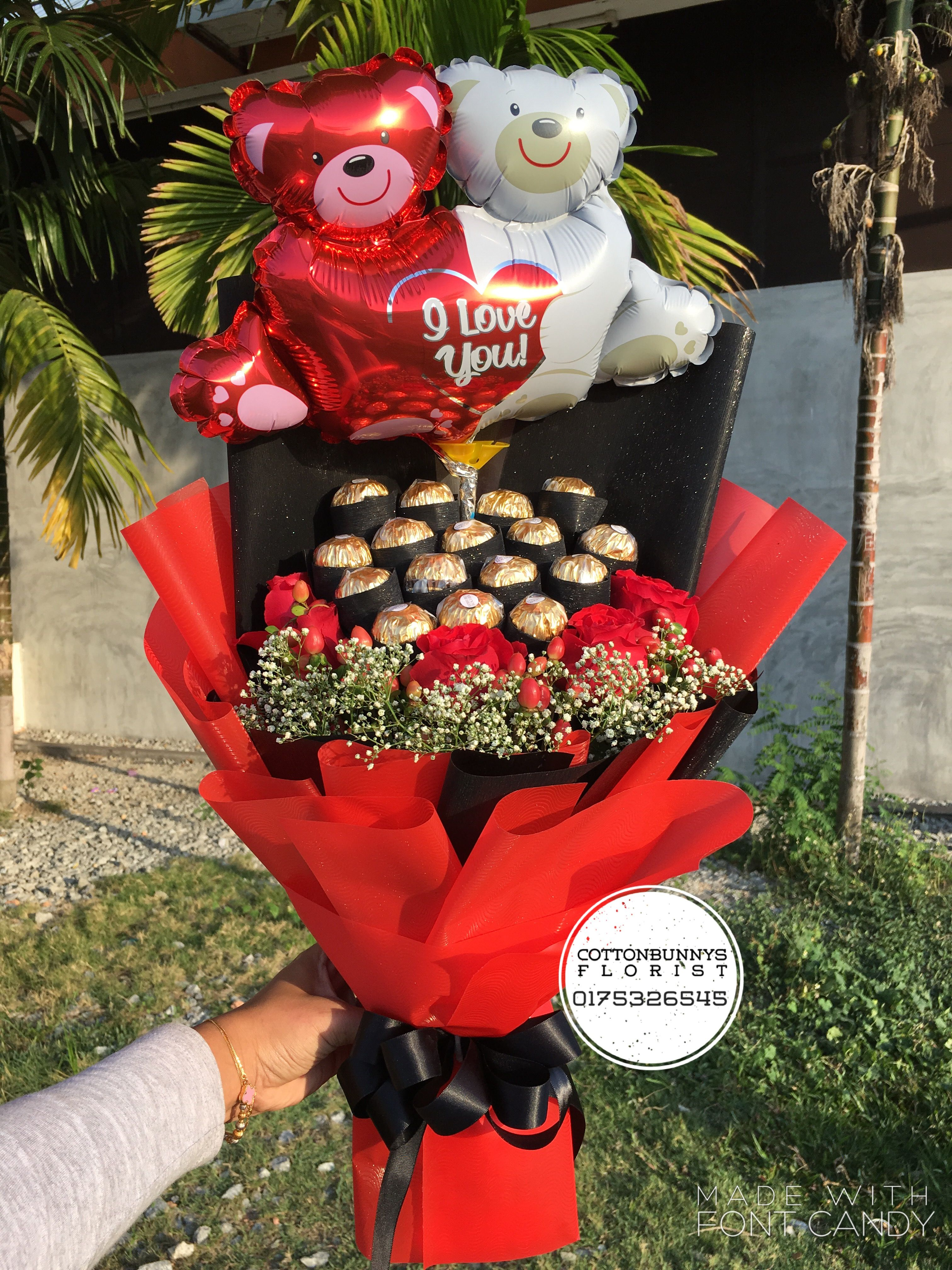 Flower Chocolate Bouquet Gift Ideas Valentine S Day Anniversary Birthday Girls Girlfriend Valentine Bouquet Valentines Candy Bouquet Gift Bouquet