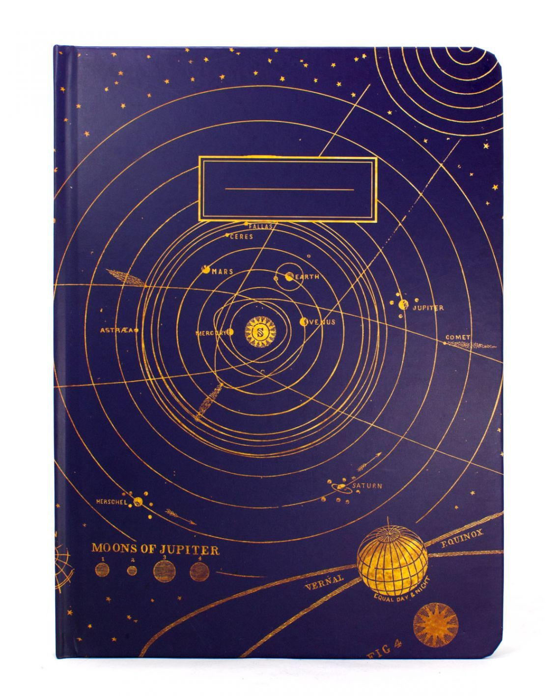 Science Design For Notebook: Eco Friendly Recycled Paper Nerdy Solar System Astronomy