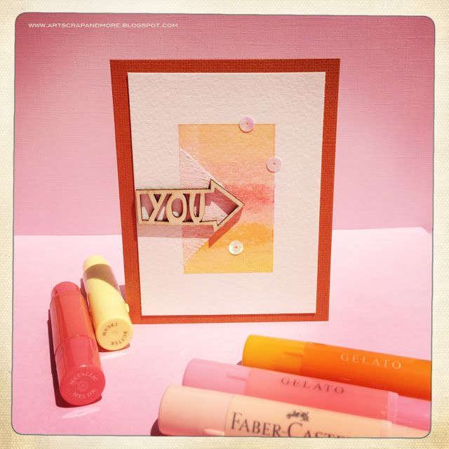 Ombré Cards with Gelatos - Faber-Castell Design Memory Craft