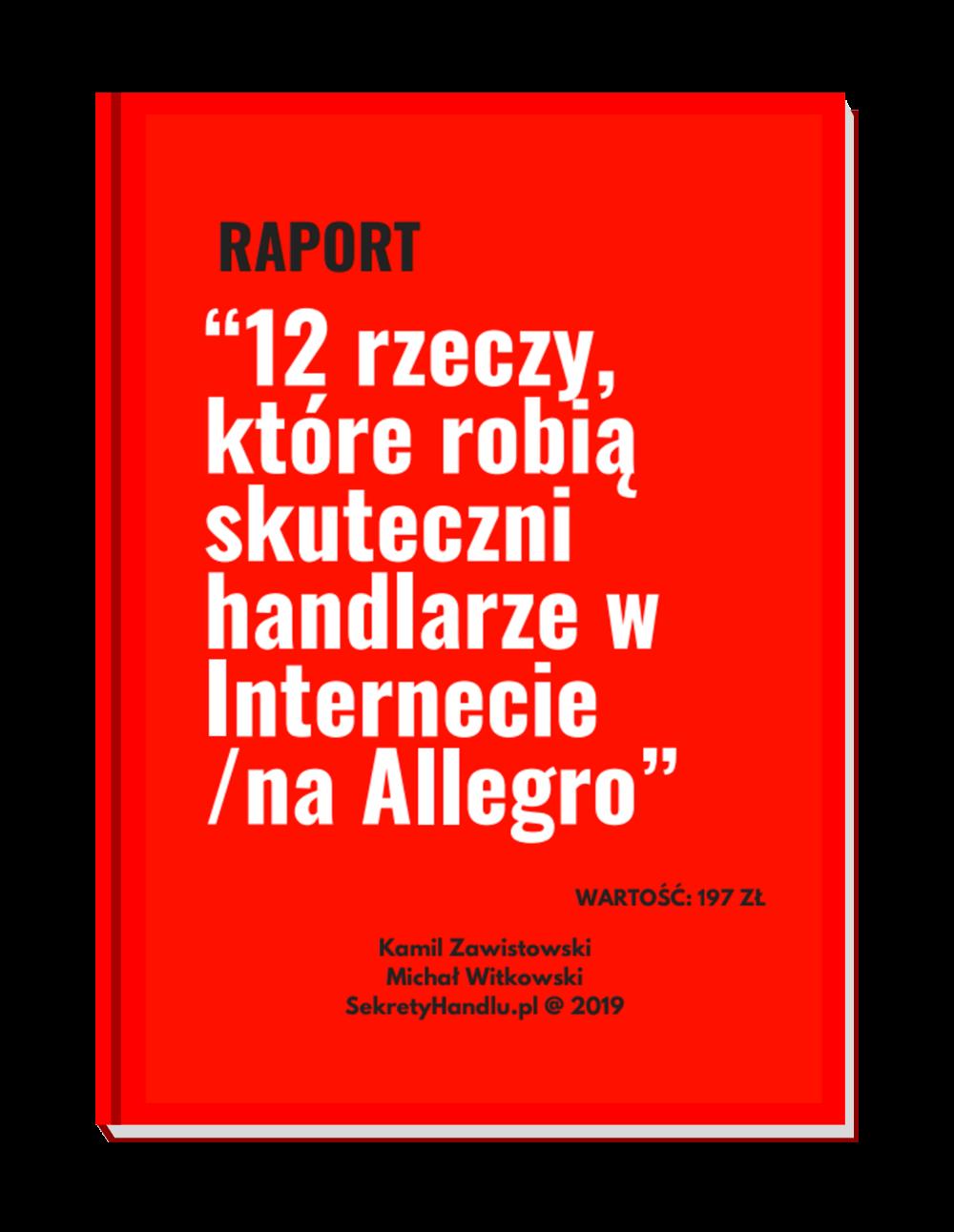 Pobierz Bezplatny Raport 12 Rzeczy Ktore Robia Skuteczni Handlarze W Internecie Na Allegro Calm Artwork Marketing Calm