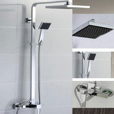 Drip Free Chrome Rain Shower Head with Shower Hose | Buy Home Gift ...