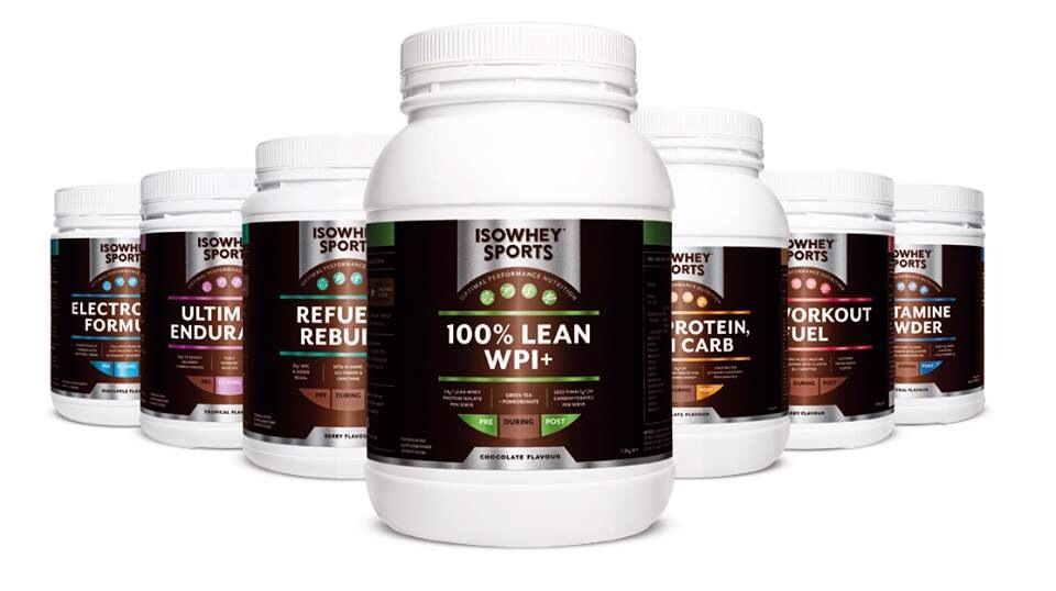 IsoWhey Sports packaging, designed by Frankie & Boyd