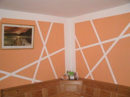 GroBartig Wand Streichen Ideen Muster Sch\u00f6nsten Ideen Zum Streichen
