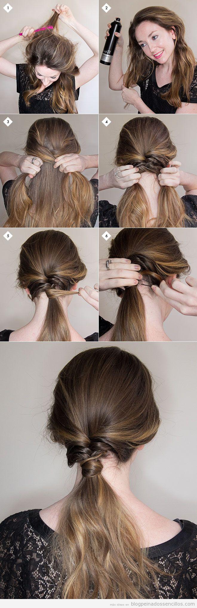 Varios peinados peinados faciles y rapidos paso a paso Colección De Cortes De Pelo Ideas - Peinados paso a paso   Peinados paso a paso, Peinados ...
