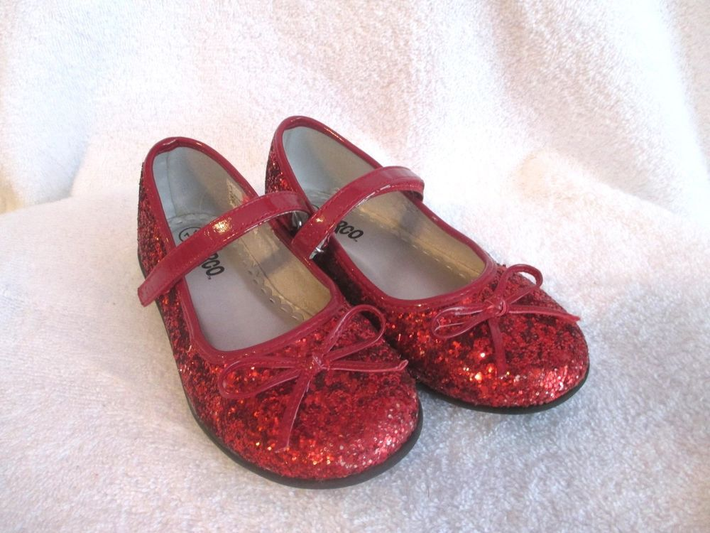 Girls Red Glitter Shoes 11 Ruby Slippers Dorothy Wizard Of Oz Mary Janes Red Glitter Shoes Glitter Shoes Dorothy Wizard Of Oz