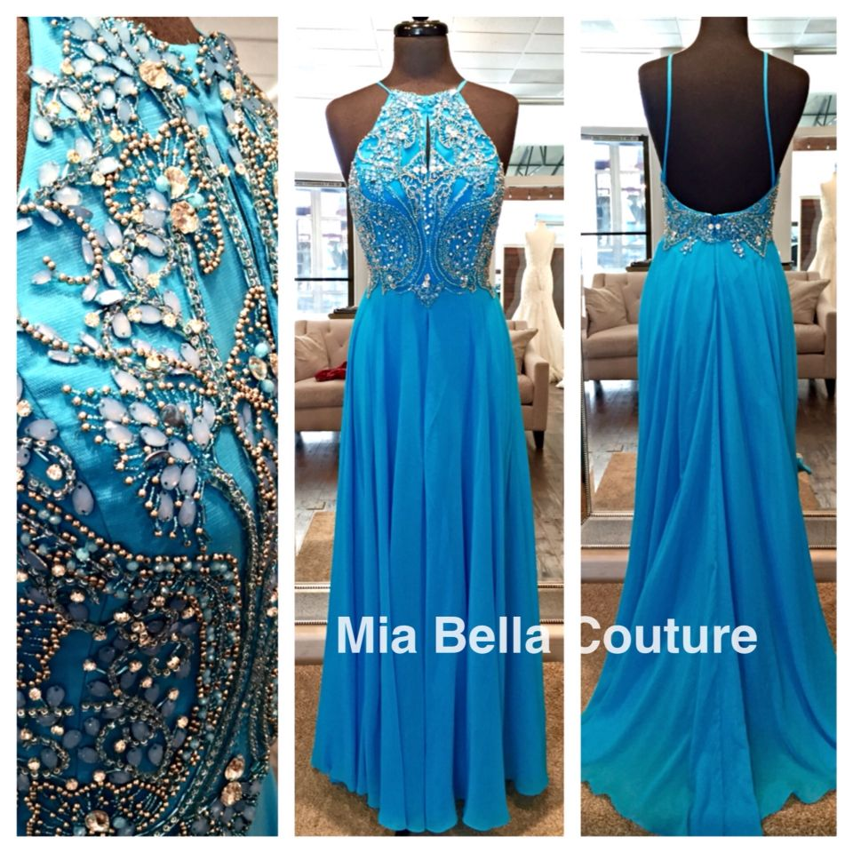 One of our favorite Jovani dresses is now available in Turquoise ...
