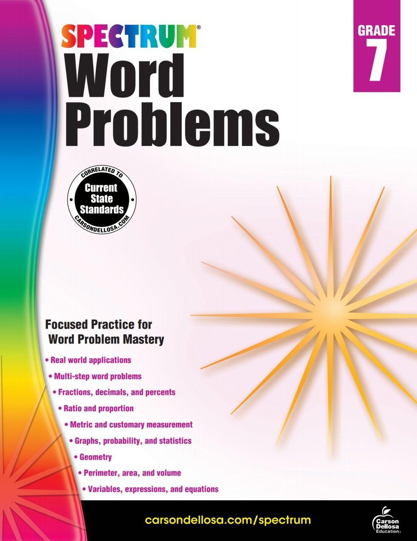 Word Problems Grade 7 (eBook) in 2020 Math workbook