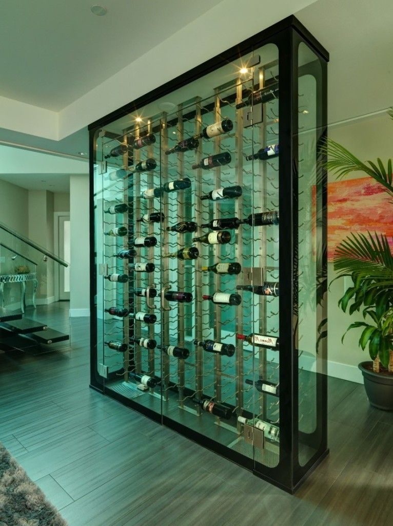 Glassed In Contemporary Vancouver Wine Cellar Navigation Image Photo Gallery