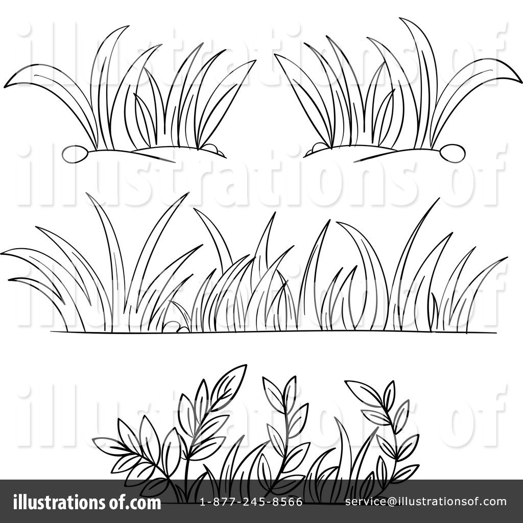 Line Drawing Grass : Royalty free rf grass clipart illustration by colematt