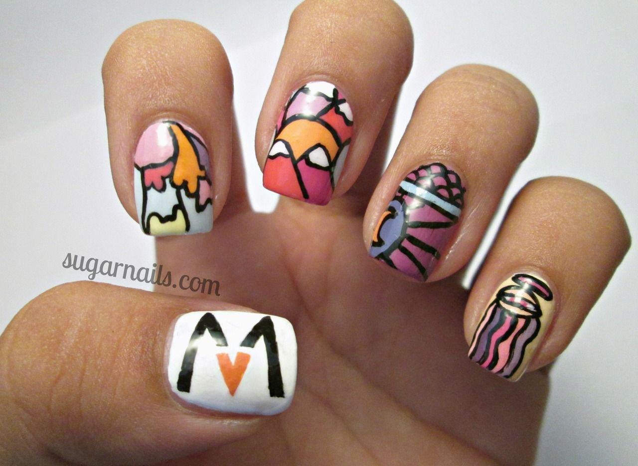 Maroon 5 nails yes! - Maroon 5- Overexposed Nail Art! :) Need To Do, Will Do Nails