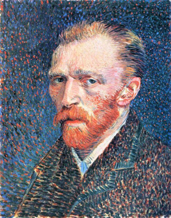Van Gogh, Autoportrait de droite avec fond pointillé en 2020 | Van gogh autoportrait ...